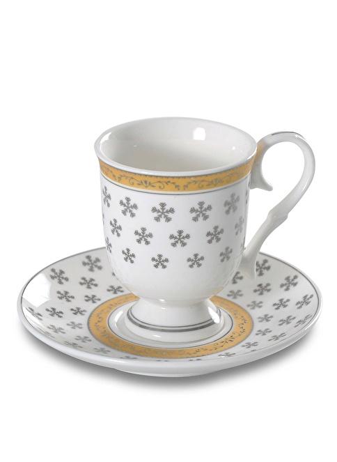Deary Box Nergis Kar Tanesi Bone China Türk Kahve Fincan Takımı Renkli